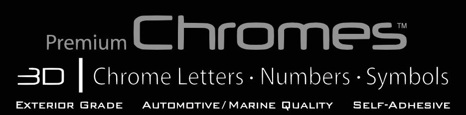 Premium Chrome Adhesive Letters from Mila Displays